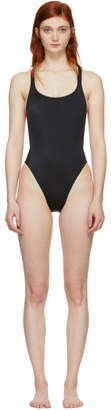 Solid and Striped Black The Robin Swimsuit