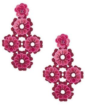 Kate Spade New York Pink Sequin Statement Drop Earrings