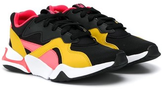 Puma Kids colourblock low-top sneakers