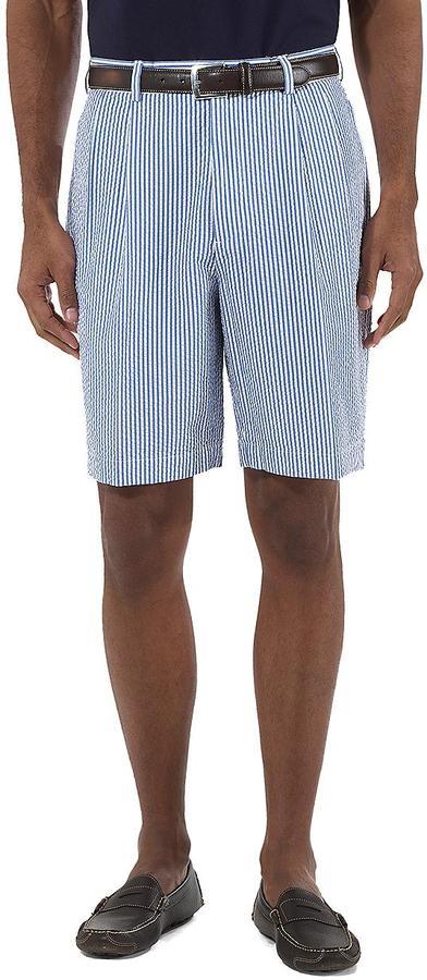 Brooks Brothers Pleat-Front Seersucker Shorts