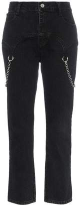 Sandy Liang Marks chain embellished straight jeans