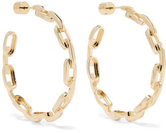 Jennifer Fisher Baby Chain Link Gold-plated Earrings