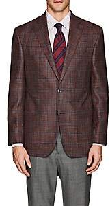 Piattelli MEN'S PLAID WOOL-BLEND HOPSACK TWO-BUTTON SPORTCOAT