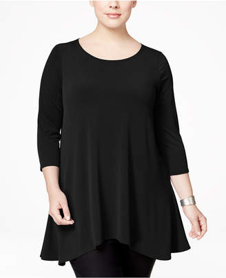 Alfani Plus Size Swing Top, Created for Macy's $65.50 thestylecure.com