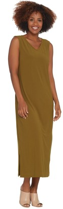 Linea By Louis Dell'olio by Louis Dell'Olio Petite Moss Crepe Tank Dress