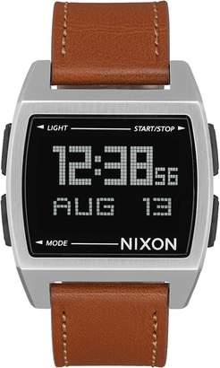Nixon Base Leather Watch - Men's