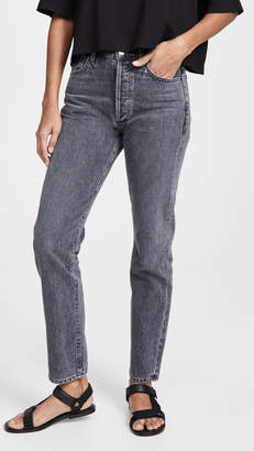 Gold Sign Benefit High Rise Relaxed Straight Jeans