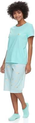 Croft & Barrow Women's Petite Short Sleeve Novelty Pajama Set