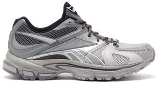 Vetements X Reebok Spike Runner 200 Mesh Trainers - Mens - Grey
