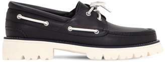 Salvatore Ferragamo Ambler Leather Boat Shoes
