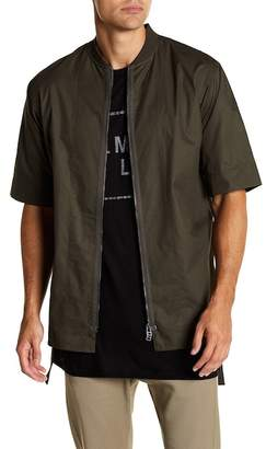 Helmut Lang Zip Front Short Sleeve Shirt
