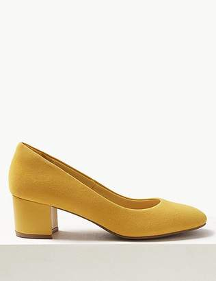 Marks and Spencer Block Heel Suede Court Shoes