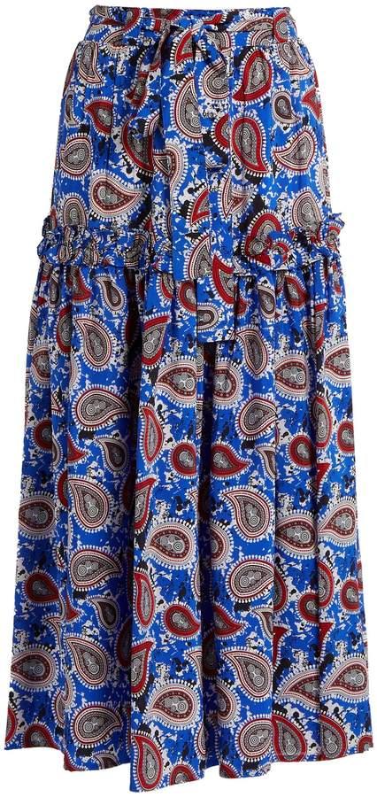 DODO BAR OR Stevie paisley-print silk skirt