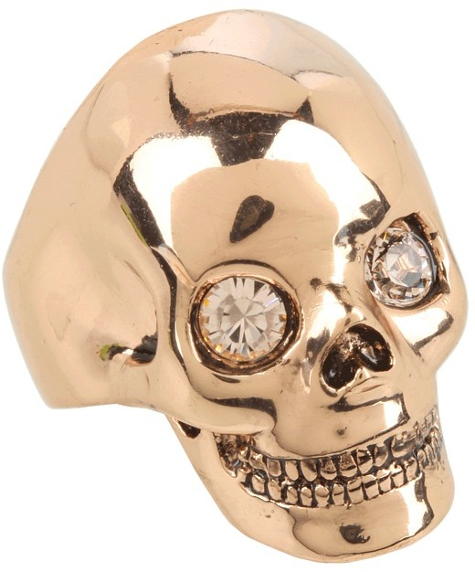 Wildfox Couture Skull Ring (Rose Gold) - Jewelry