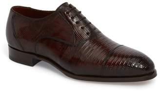 Magnanni Palmiro Lizard Leather Cap Toe Derby
