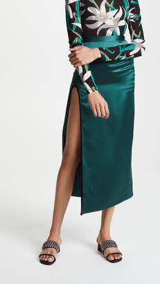 Fleur Du Mal Skirt with High Slit