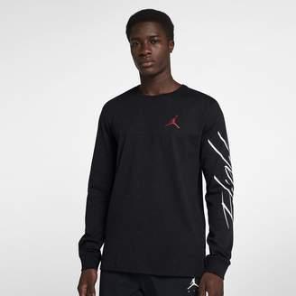 Jordan Sportswear Flight Cement Men's Long Sleeve Top