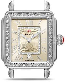 Michele Deco Madison Watch Head, 33mm x 35mm