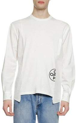 Off-White Men's Hybrid Long-Sleeve T-Shirt