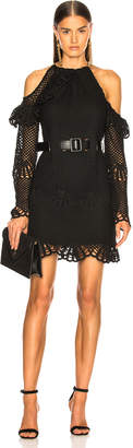 Self-Portrait Self Portrait Waist Detail Crochet Mini Dress
