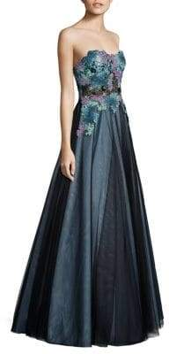 Basix II Black Label Strapless Lace Ball Gown