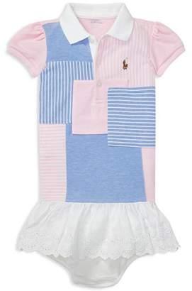 b1ae0b9d6 Ralph Lauren Girls  Patchwork Polo Dress   Bloomers Set - Baby