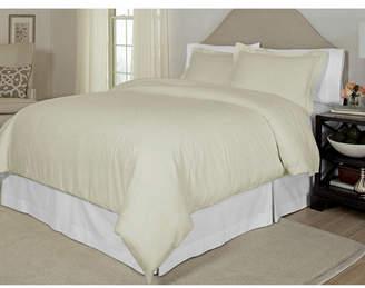 Pointehaven Printed Twin Duvet Set, 300 Thread Count Cotton Sateen Bedding