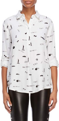 Max Jeans New York Print Relaxed Shirt