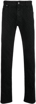 Fendi FF logo slim fit jeans