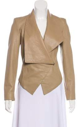 Helmut Lang Leather Long Sleeve Casual Jacket