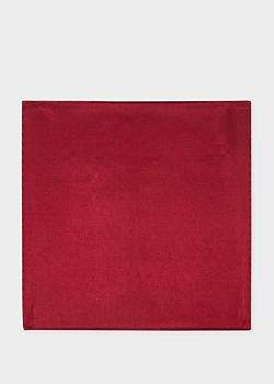 Paul Smith Men's Burgundy Silk Pocket Square