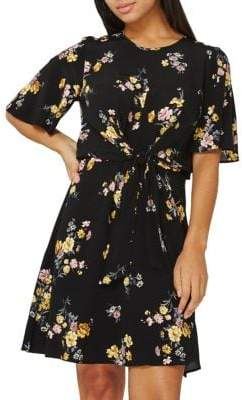 Dorothy Perkins Floral Twist Fit-&-Flare Dress