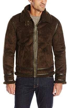 GUESS Men's Jake Faux Shearling Jacket