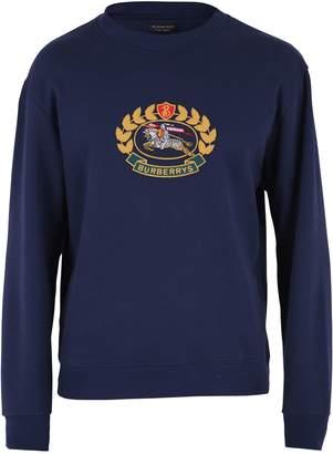 Burberry Blue Embroidered Sweatshirt