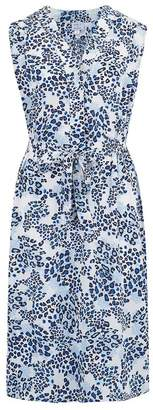 Trilogy Pippa Sleeveless Dress in Blue Animal
