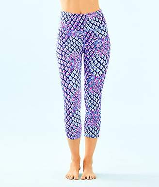 """Lilly Pulitzer Womens UPF 50+ Luxletic 21"""" High Rise Weekender Cropped Pant"""
