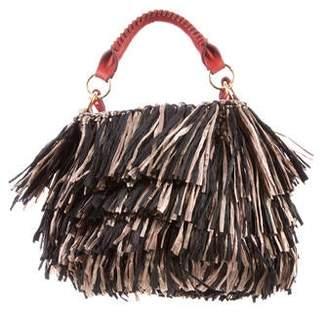 Diane von Furstenberg Fringe Raffia Crossbody Bag w/ Tags