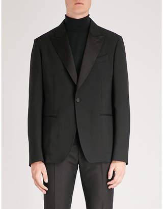 Alexander McQueen Peak-lapel regular-fit wool-blend jacket