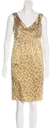 Diane von Furstenberg Sleeveless Silk Sheath Dress