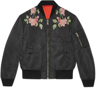 Reversible nylon and silk bomber jacket $3,500 thestylecure.com