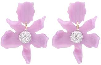 Lele Sadoughi Crystal floral earrings