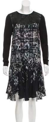 Tibi Long Sleeve Midi Dress