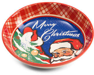 13in Retro Christmas Serving Bowl