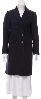 See by Chloe Virgin Wool Leather-Trimmed Coat