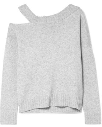 Vince One-shoulder Cutout Wool And Cashmere-blend Sweater - Gray
