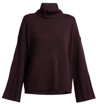 Nili Lotan Rowan Roll Neck Cashmere Sweater - Womens - Burgundy