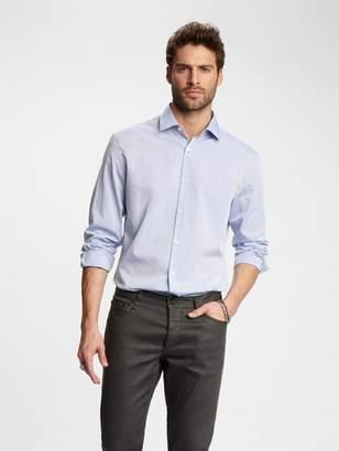 John Varvatos Slim Fit Textured Pin-Dot Dress Shirt