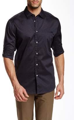 John Varvatos Collection Dot Print Long Sleeve Slim Fit Shirt