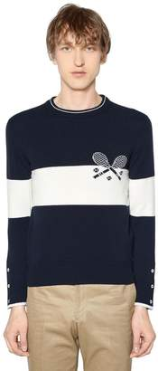 Thom Browne Striped Tennis Cashmere Knit Sweater
