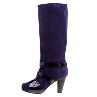 Versace Purple Suede Boots